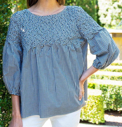 Victoria Gingham Topper