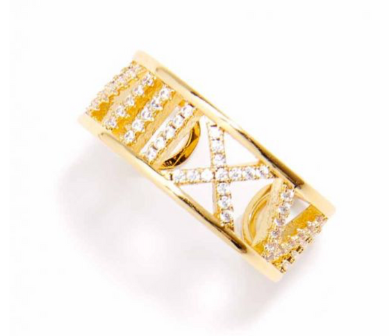 Crystal Cut Out Ring