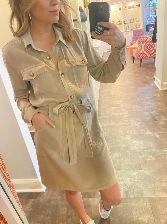 Cargo Pocket Dress, Khaki