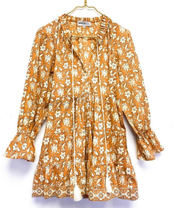 Twig Mini Ruffle Dress