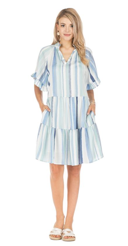 Flare Striped Dress