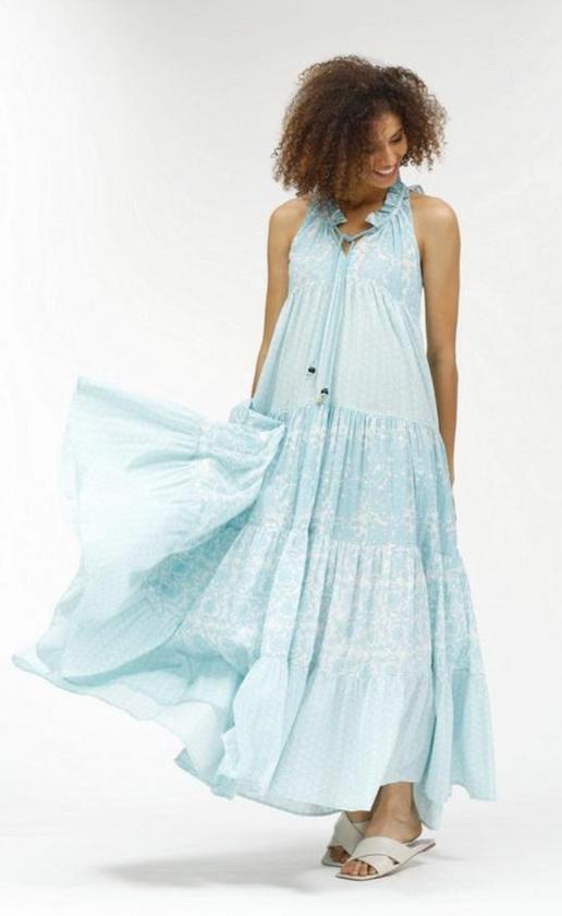 Sofia Long Dress, Blue
