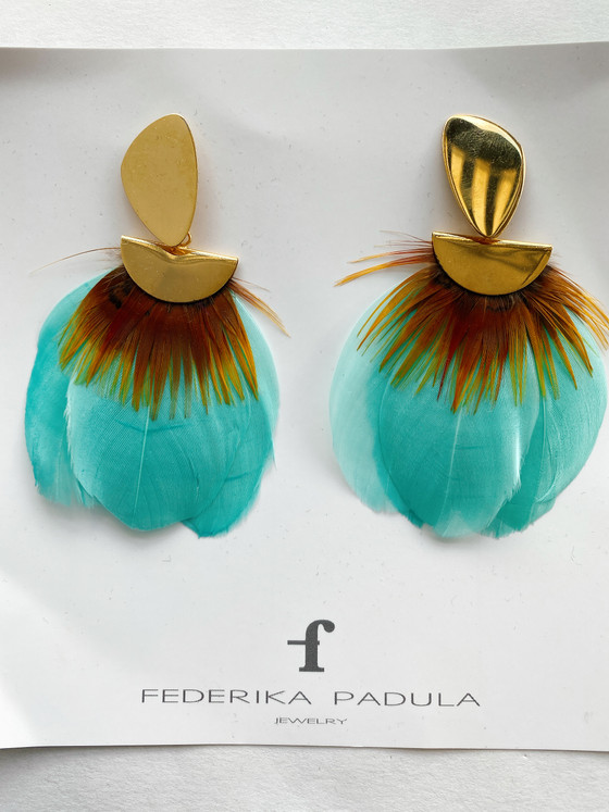 Federika Padula Feather Earrings