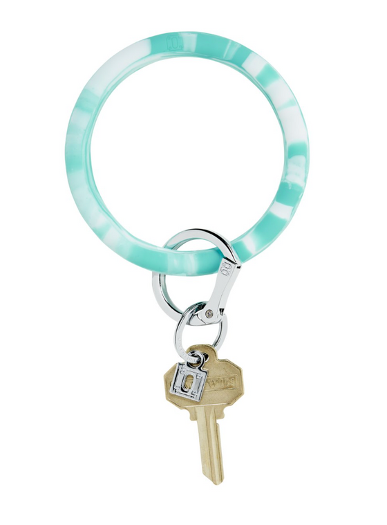 Big O Silicone Key Ring - Pool Marble