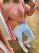 Boatneck Pullover, Pink Sand