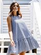 Annie Dress, Navy Gingham
