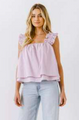 Lilac Tiered Top