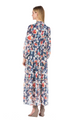 Navy Floral Tiered Maxi