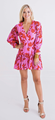 Floral Button Tie Dress