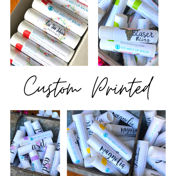 No Melt Lip Balm Customized Party Favors