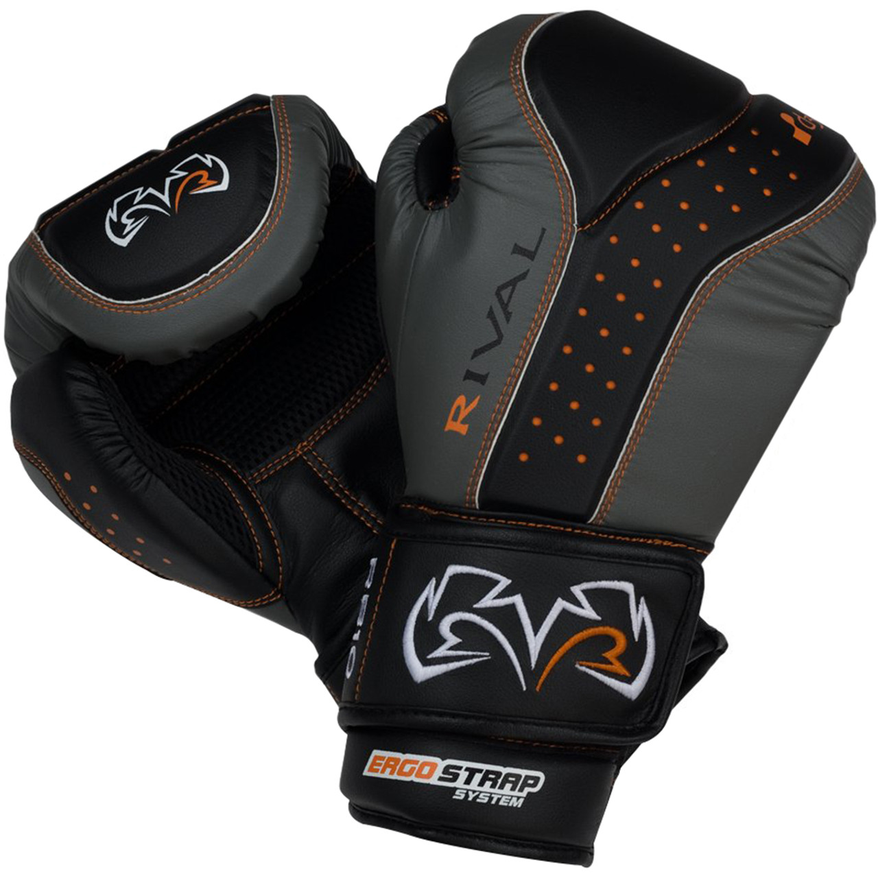 Black//Gray Rival Boxing d3o Intelli-Shock Bag Gloves