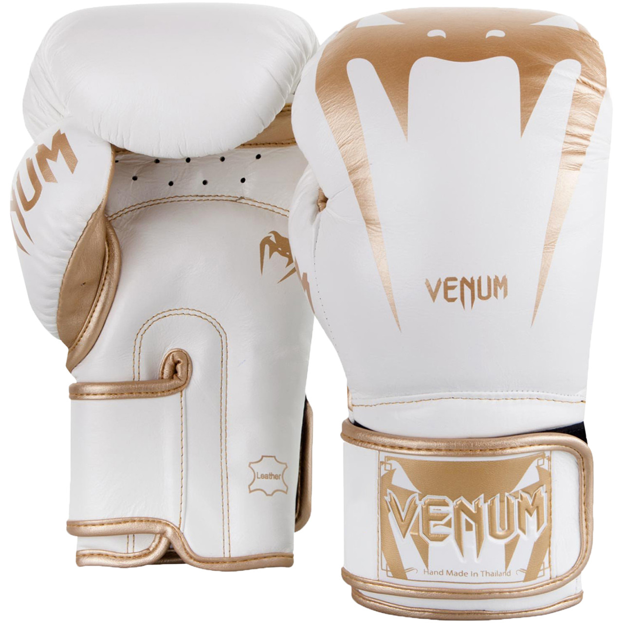 Venum Giant 3.0 Nappa Leather Hook and Loop Boxing Gloves Black//White