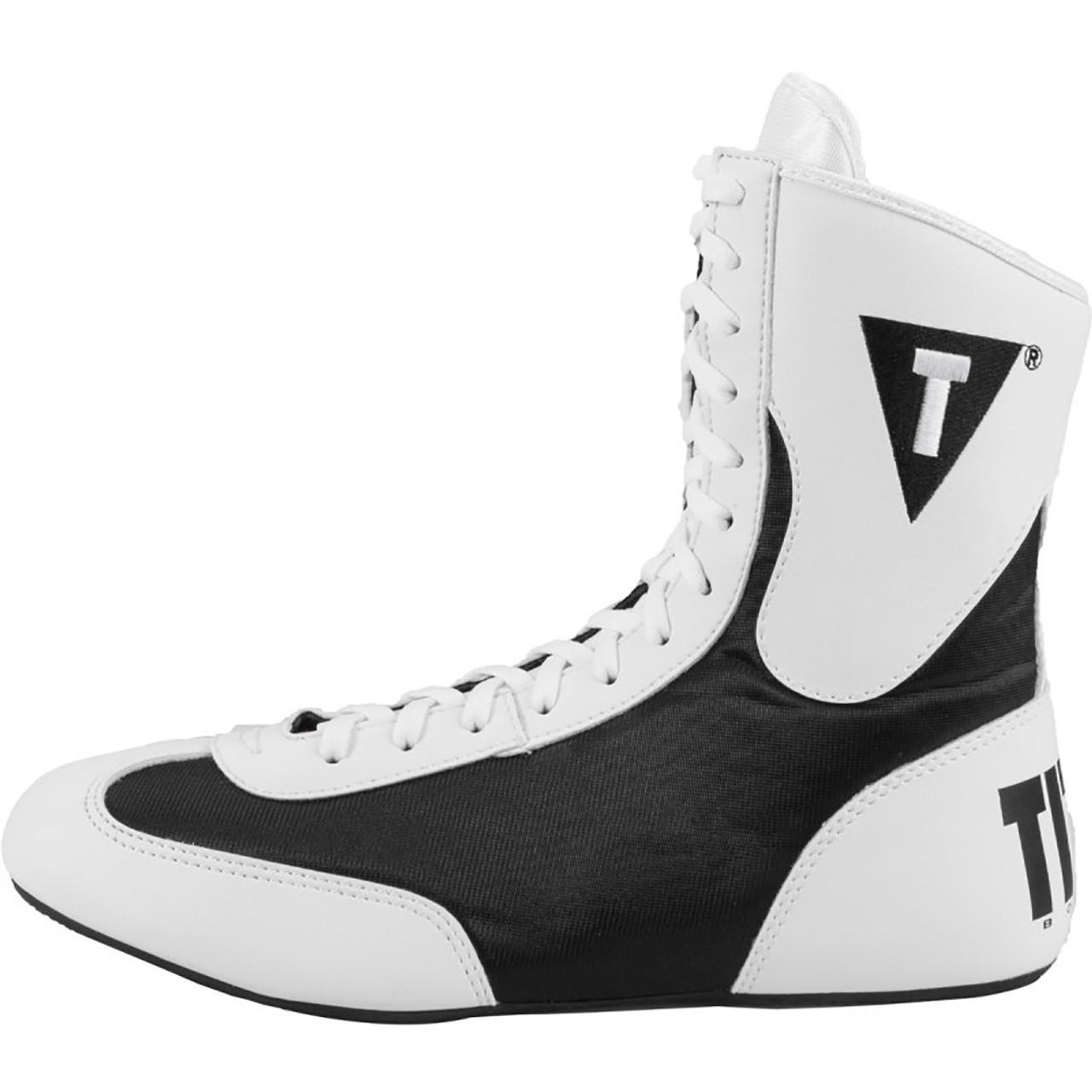 Title Boxing Speed-Flex Encore Mid-Length Boxing Shoes White//Black