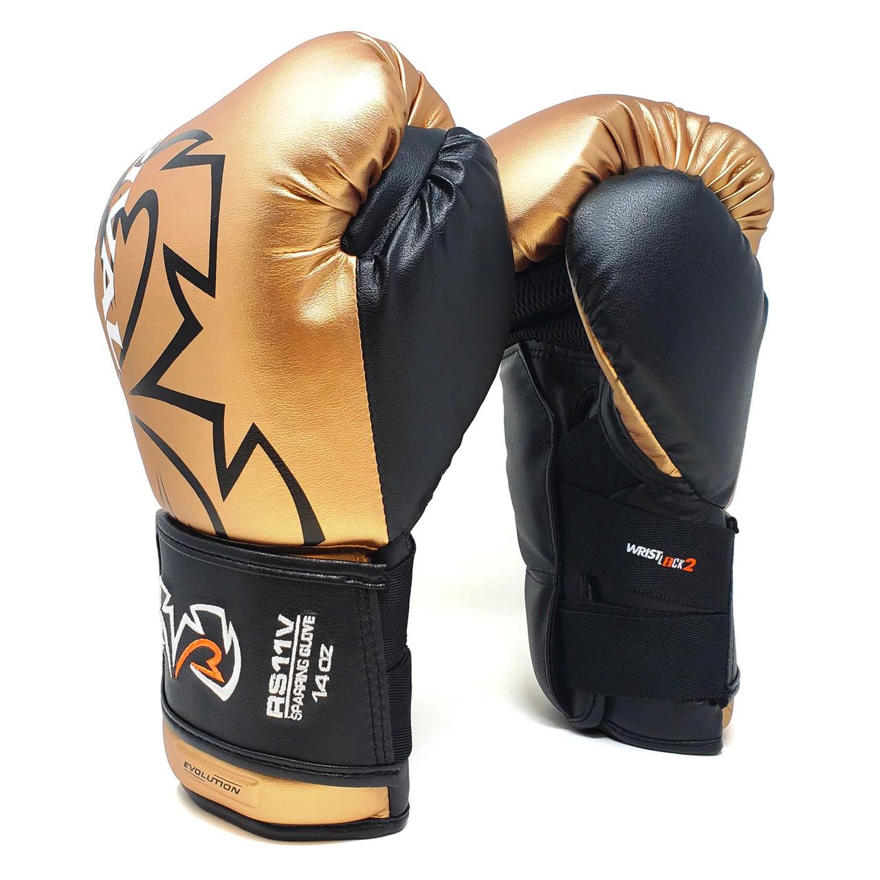 Gold Rival RS11V-Evolution Hook and Loop Sparring Boxing Gloves