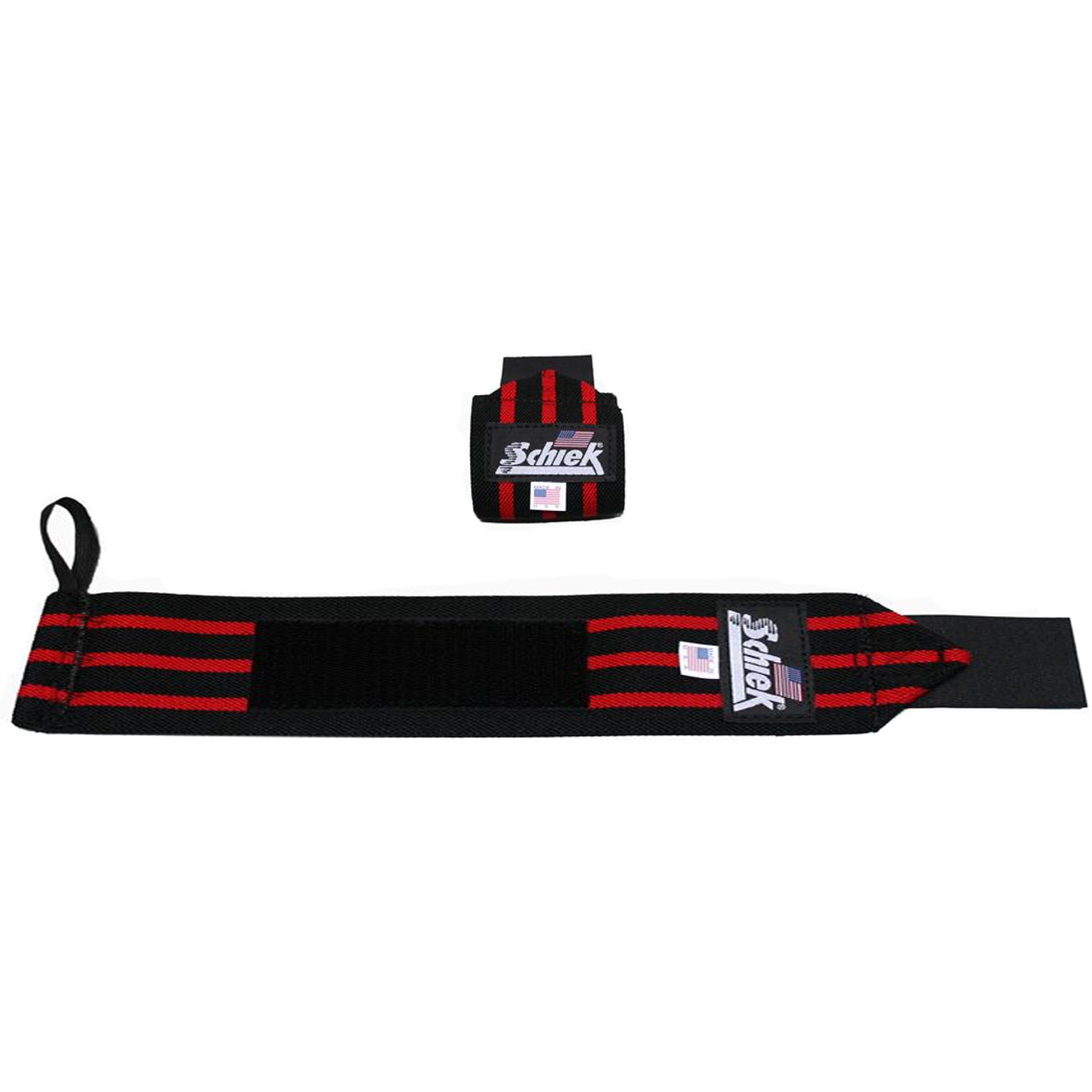 "Black//Red Schiek Sports Model 1112 Heavy Duty 12/"" Wrist Wraps"