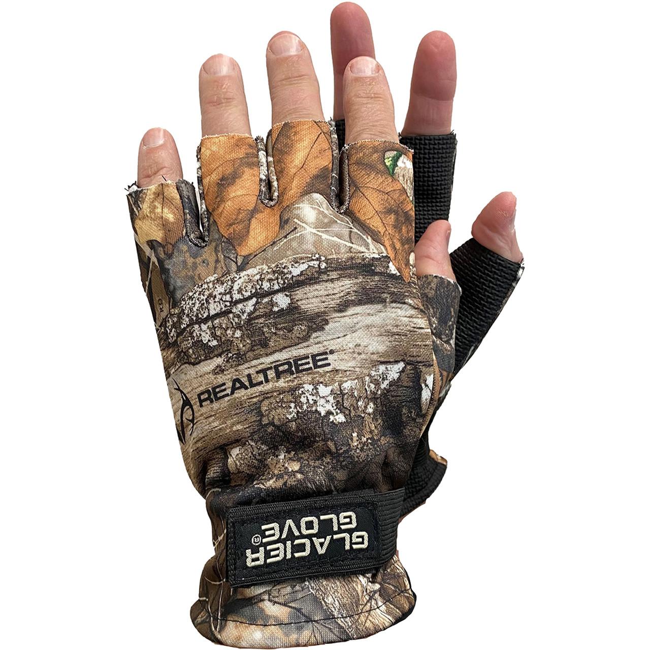 Green Water Camo Glacier Glove Abaco Bay Fingerless Sun Gloves