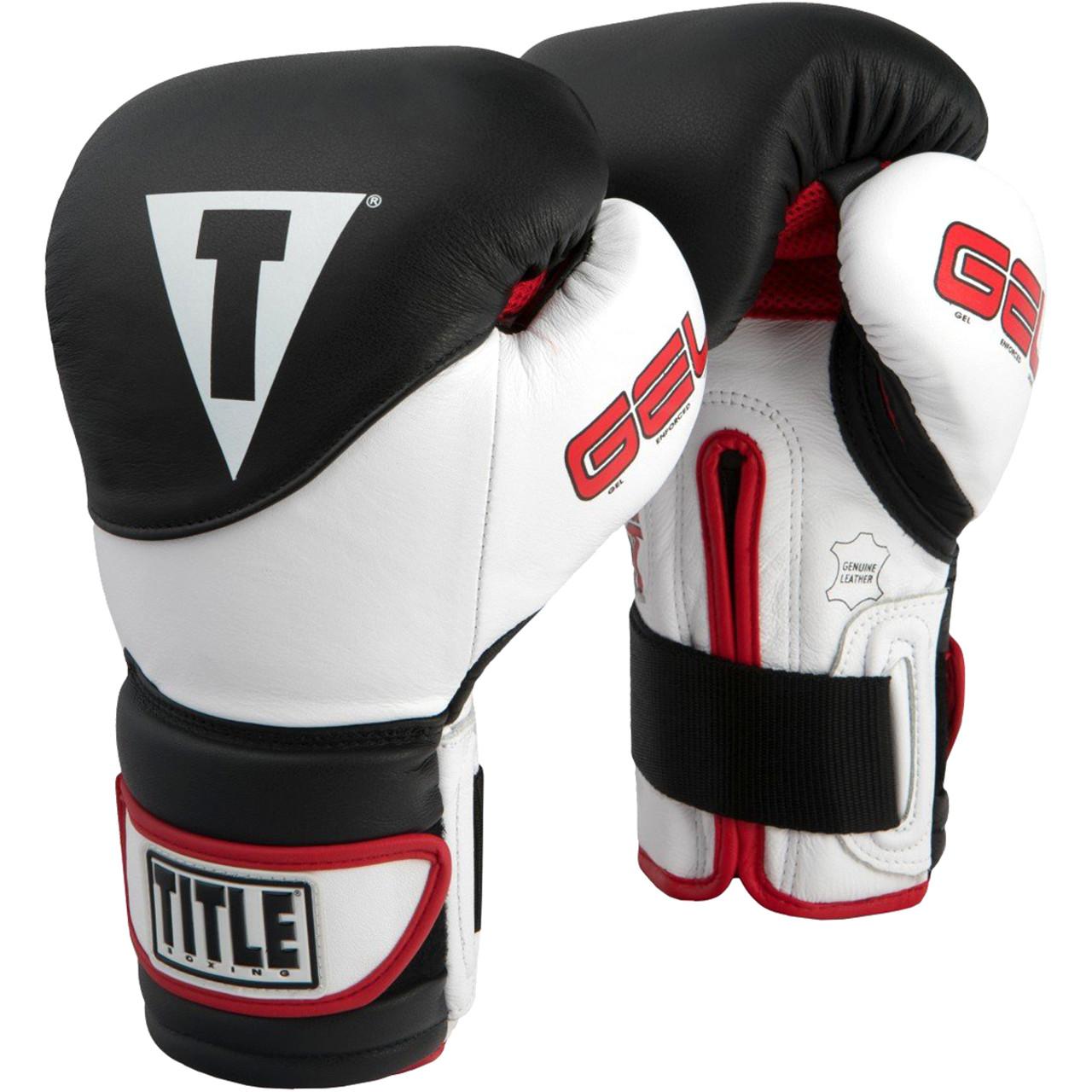 Title Boxing Gel Suspense Training Gloves Red//White