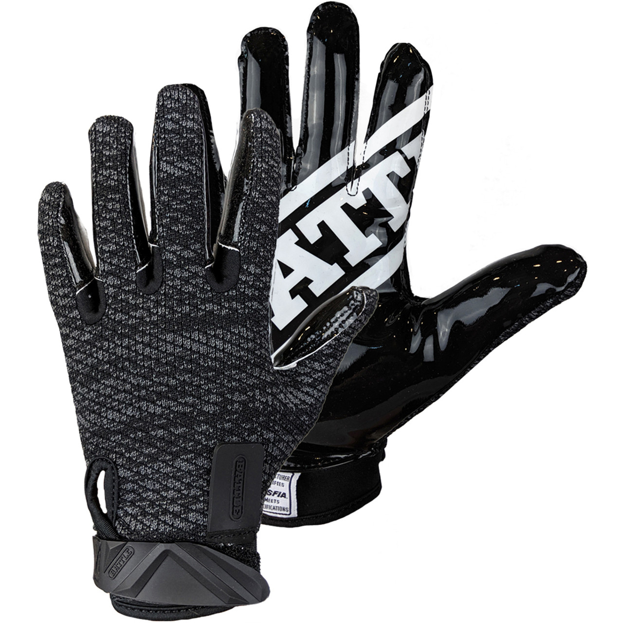 Gold//White Battle Sports Science Receivers Ultra-Stick Football Gloves