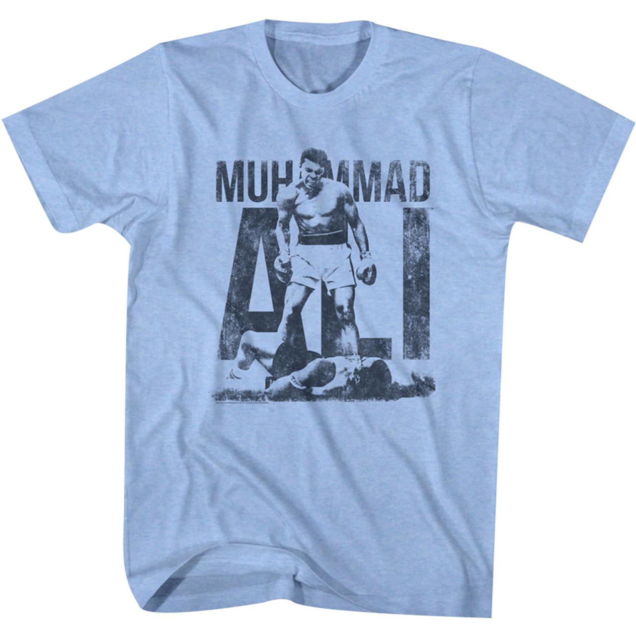American Classics Muhammad Ali Victory T-Shirt Light Blue Heather