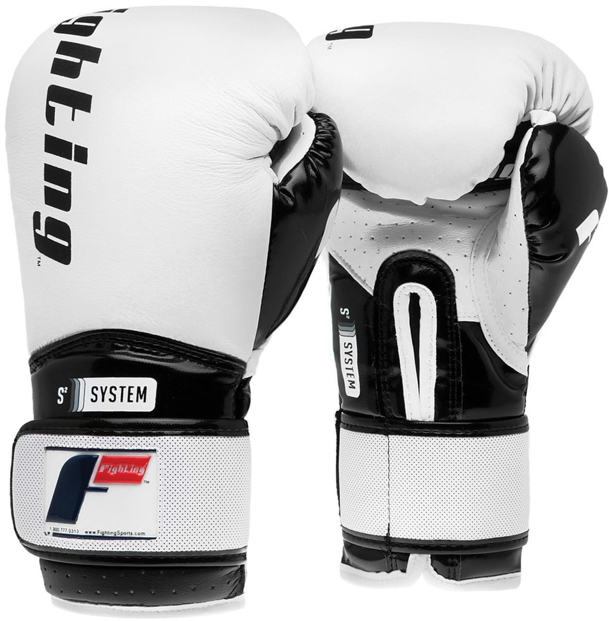 Black//White Fighting Sports S2 Gel Boxing Power Bag Gloves