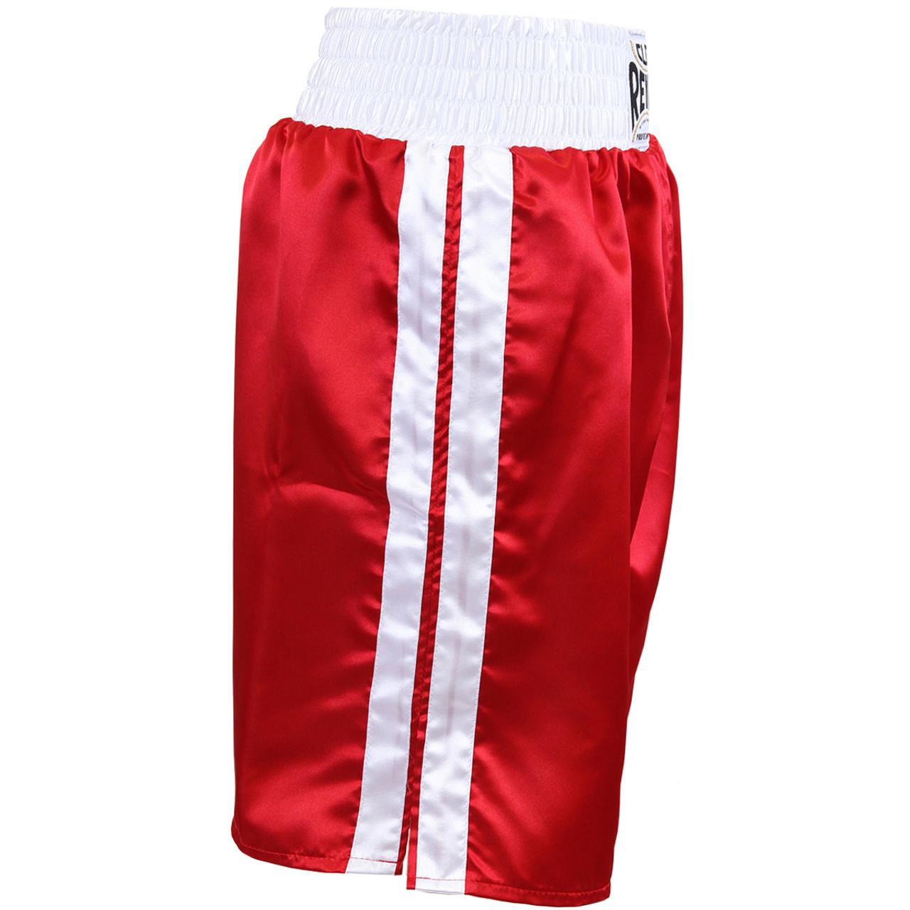 Cleto Reyes Satin Classic Boxing Trunks Black//White