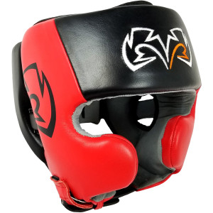 Rival Boxing RHG20 Training Headgear with Cheek Protectors - Black/Red