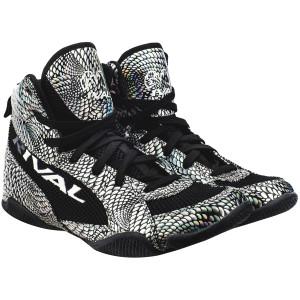 Rival Boxing Lo-Top Guerrero Boots - Silver Snake Skin/Black