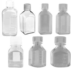 Nalgene Transparent Lexan Polycarbonate Square Storage Bottle - Clear