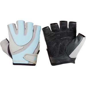 Harbinger 1265 Women's Comfort Tech Training Grip Lifting Gloves - Blue/Gray