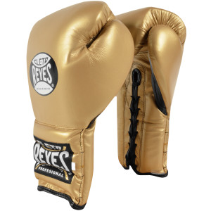 Lace Up Training Boxing Gloves - Solid Gold