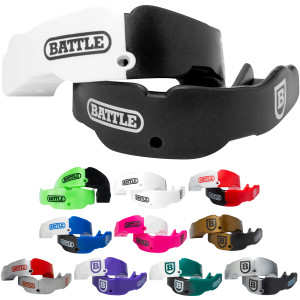 Battle Sports Science Youth Football Mouthguard 2-Pack with Straps