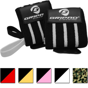 "Gripad 12"" x 3"" Weight Lifting Support Wrist Wraps"