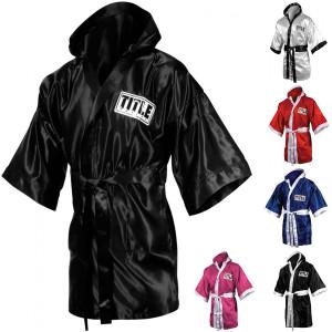 Title Boxing Stock Full Length Satin Walkout Robe