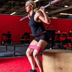 Sling Shot Hip Circle Resistance Band by Mark Bell - Pink