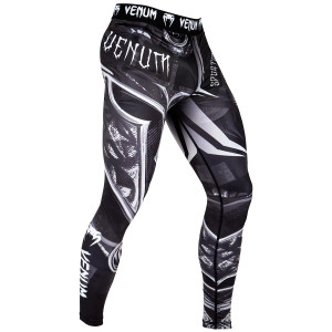 Venum Gladiator 3.0 Dry Tech MMA Compression Spats - Black/White