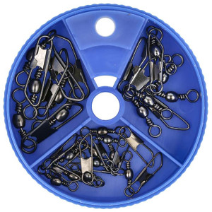 Eagle Claw Barrel Swivels with Safety Snap Assorted Pack