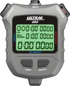 Ultrak 494 - 300 Dual Split Memory Stopwatch with Electro Luminescent Display