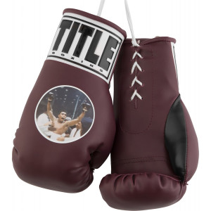 """Title Boxing 7"""" Authentic """"Muhammad Ali"""" Graphic Mini Lace Up Gloves-Maroon"""