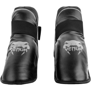Venum Challenger Lightweight Slip-On Hook and Loop Foot Gear - Black/Gray