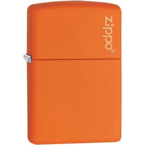 Zippo Logo Matte Pocket Lighter - Orange