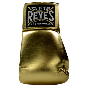 """Cleto Reyes Giant 21"""" Collectible Autograph Boxing Glove - Right Hand - Gold"""