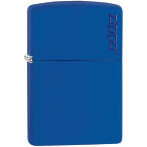Zippo Logo Matte Pocket Lighter - Royal Blue