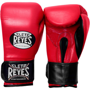 Cleto Reyes Extra Padding Leather Training Gloves - Red