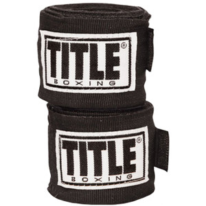 "Title Boxing 180"" Semi Elastic Mexican Handwraps - Black"