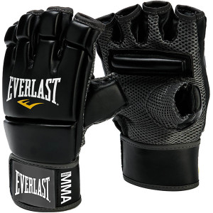Everlast MMA Kickboxing Gloves - Black