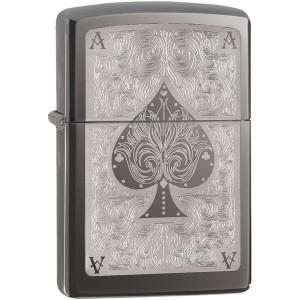 Zippo Ace of Spades Filigree Pocket Lighter