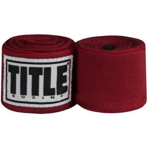 """Title Boxing 180"""" Semi Elastic Mexican Handwraps - Maroon"""