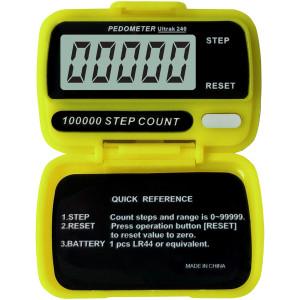 Ultrak 240 - Electronic Step Counter Pedometer - Yellow