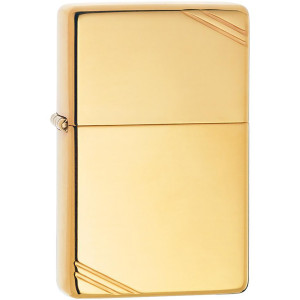 Zippo Vintage Series High Polished Brass with Slashes Pocket Lighter