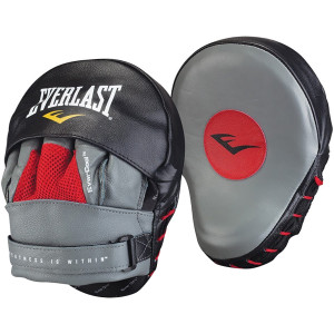Everlast Leather Mantis Punch Mitts-Red